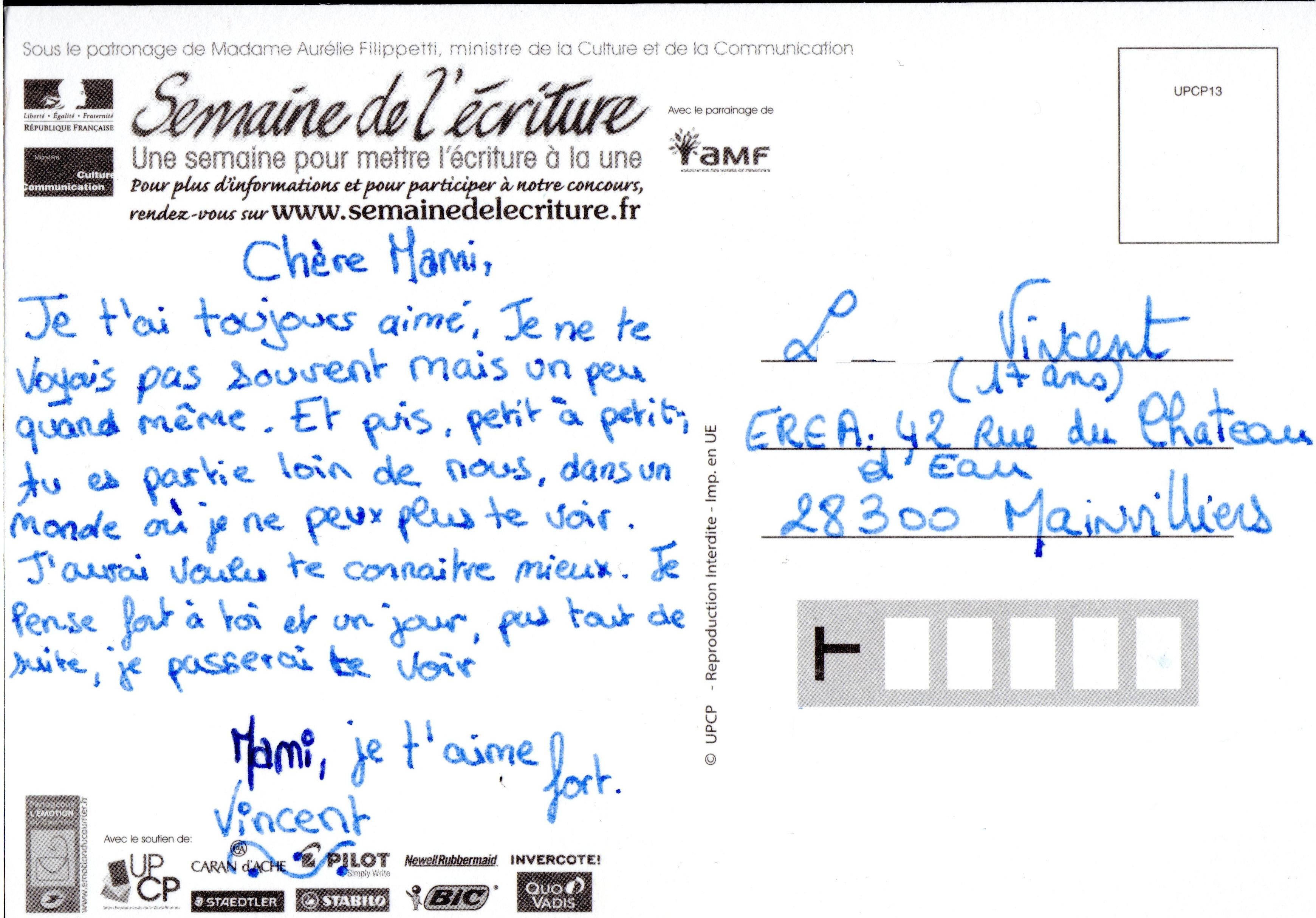 Super Concours d'écriture : Mon plus beau texte sur Carte Postale – CDI  FO87